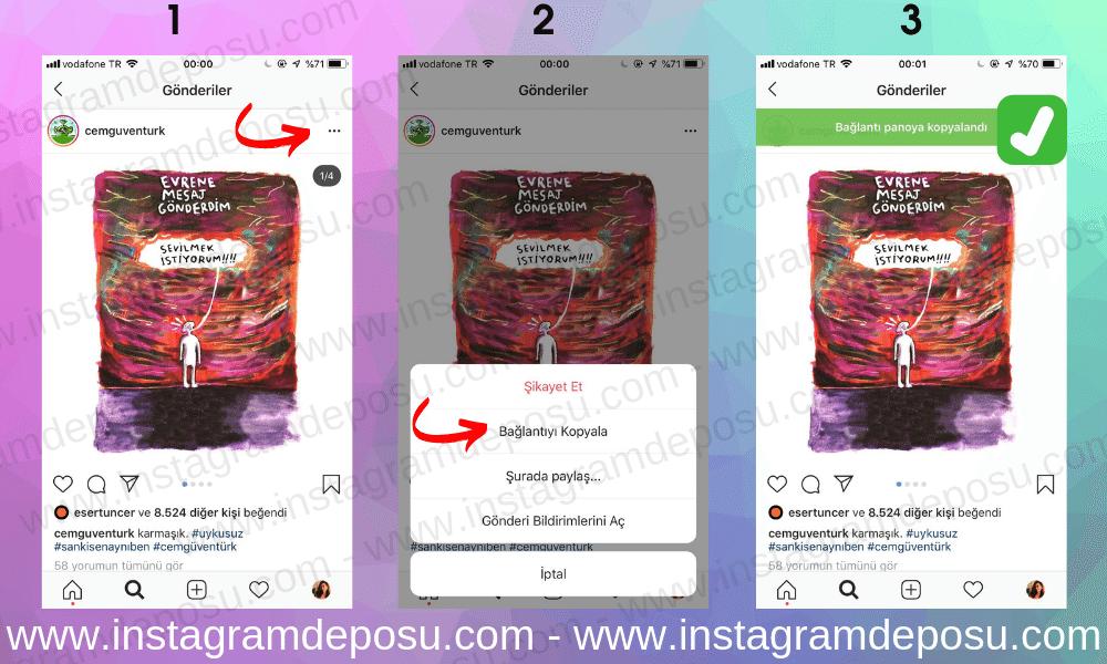 instagramda Link Kopyalama Nasıl Yapılır