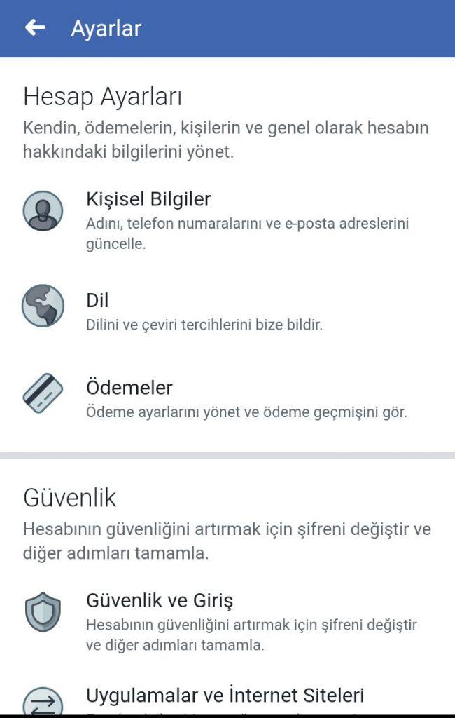 facebook turkce ayarlanamama sorunu cozum