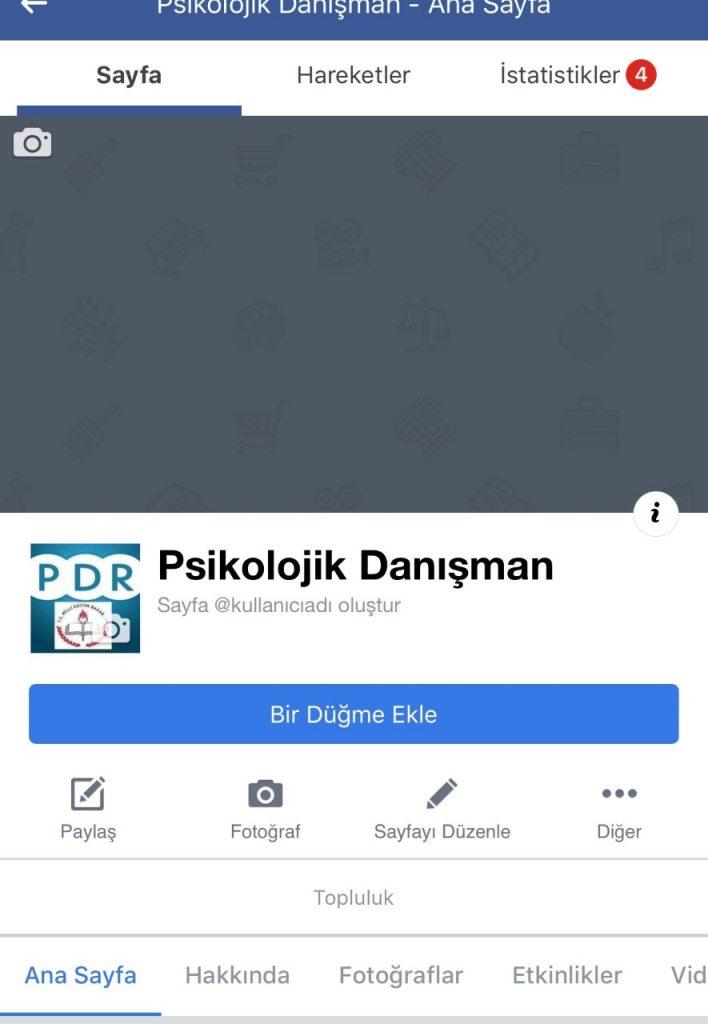 Facebook sayfası yönetici