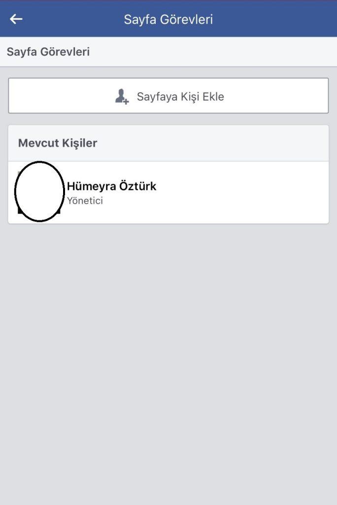 Facebook sayfası yönetici ayarları