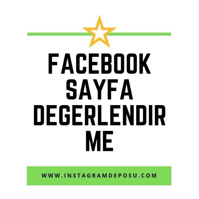 Facebook sayfa değerlendirme
