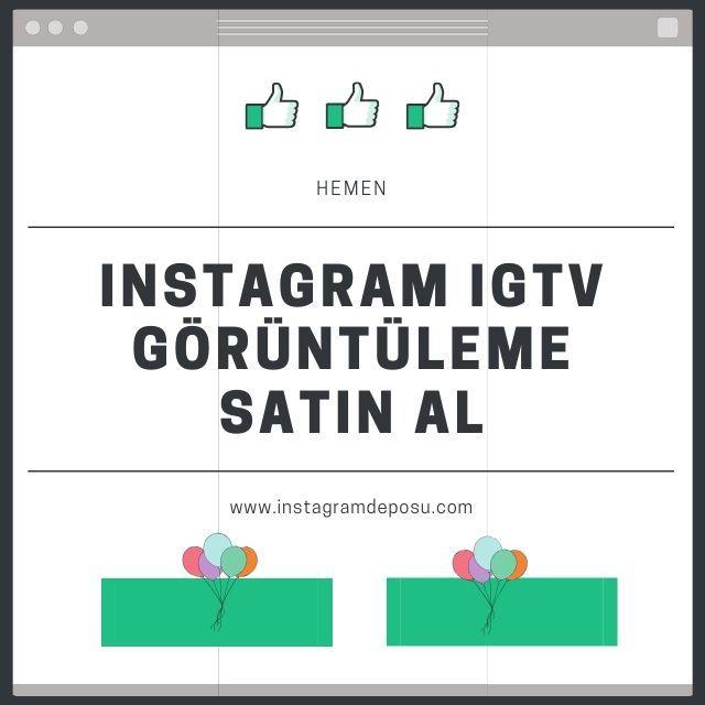 Instagram IGTV Görüntüleme Satın Al