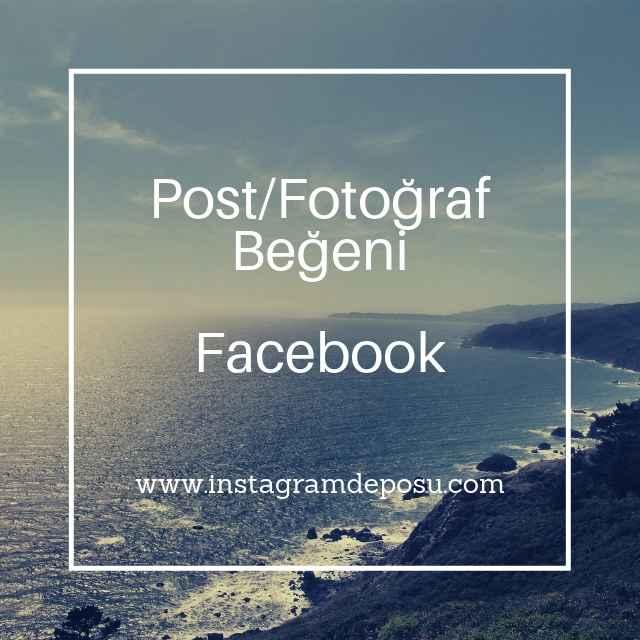 Facebook Post Fotoğraf Beğeni