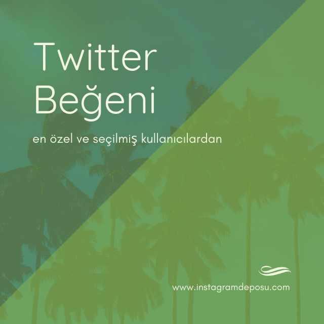 Twitter beğeni
